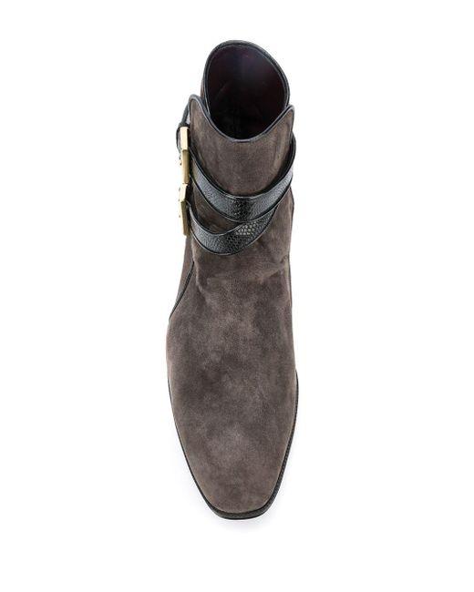 メンズ Lidfort サイドバックル ブーツ Gray