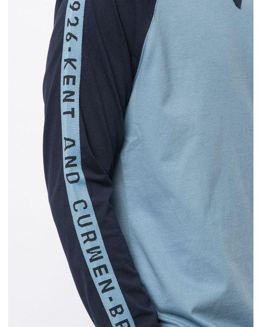 メンズ Kent & Curwen カラーブロック ロングtシャツ Blue