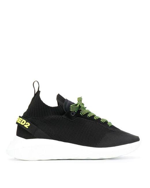 Zapatillas de malla DSquared² de hombre de color Black