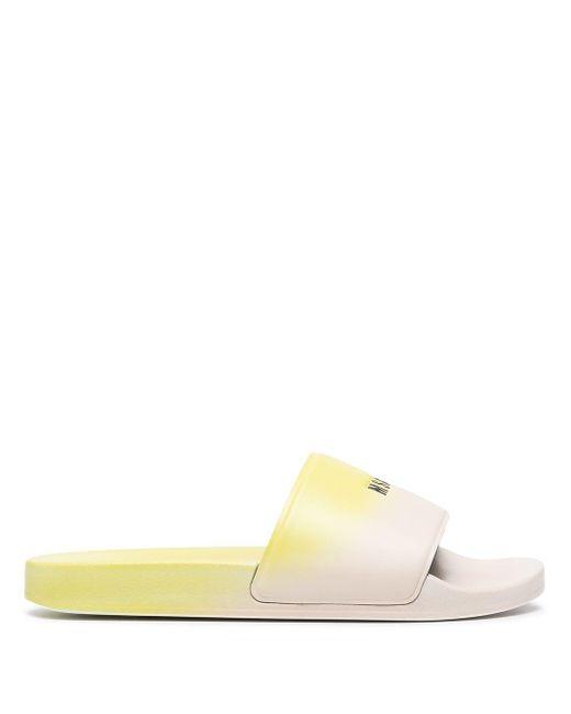 メンズ MSGM グラデーション サンダル Yellow
