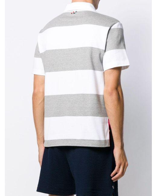 Рубашка-регби С Полосками 4-bar Thom Browne для него, цвет: Gray