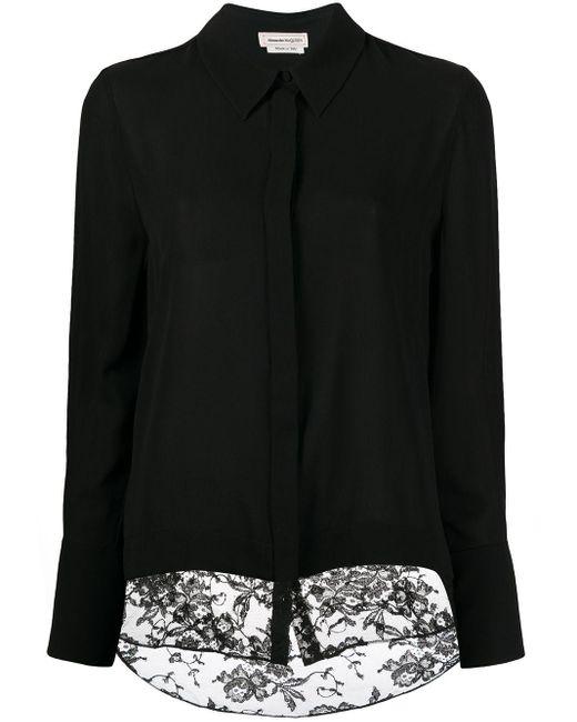 Alexander McQueen Black Contrast Panel Shirt