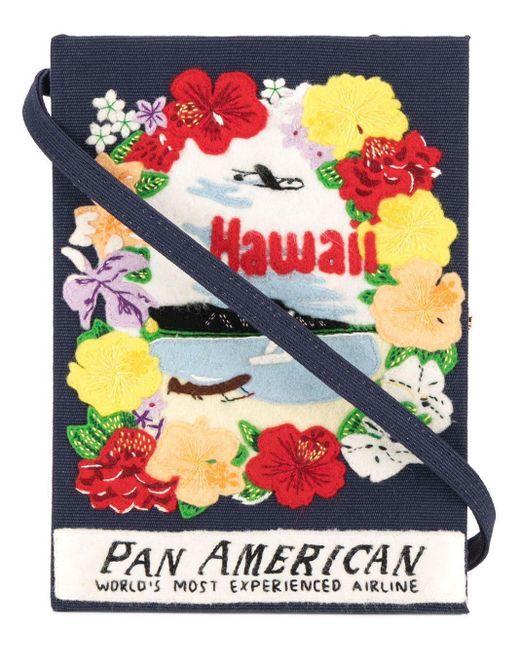 Olympia Le-Tan Blue Hawaii Book Clutch