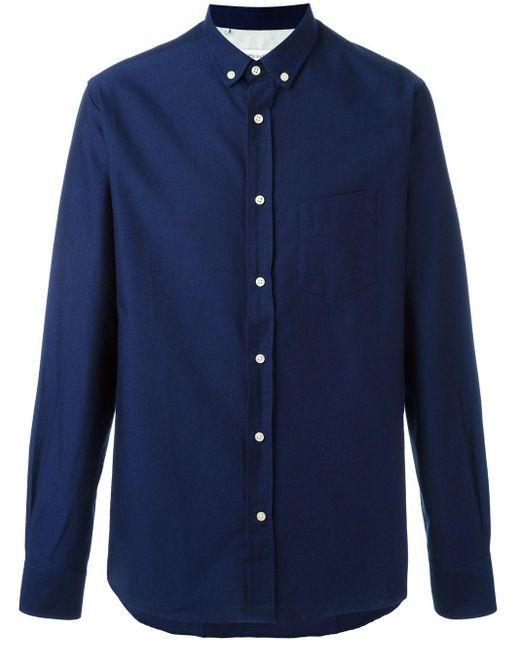 メンズ Officine Generale オックスフォードシャツ Blue