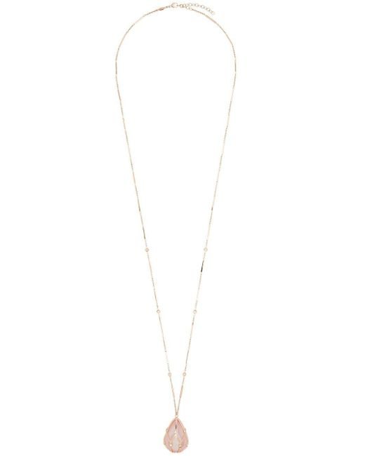 Jacquie Aiche ダイヤモンド ネックレス 14kローズゴールド Metallic