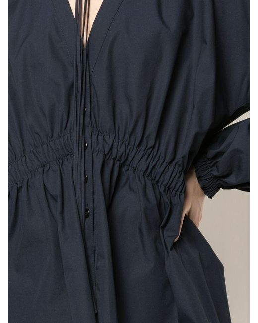 Блузка Со Сборками PROENZA SCHOULER WHITE LABEL, цвет: Blue