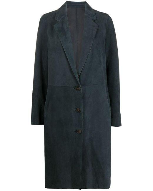 Yves Salomon シングルコート Blue