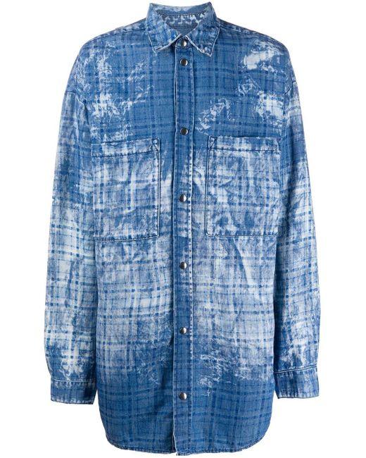 Faith Connexion オーバーサイズ シャツジャケット Blue