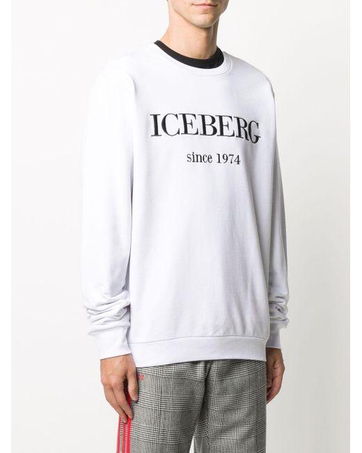 メンズ Iceberg クルーネック プルオーバー White