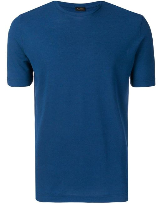メンズ Dell'Oglio スリムフィット Tシャツ Blue