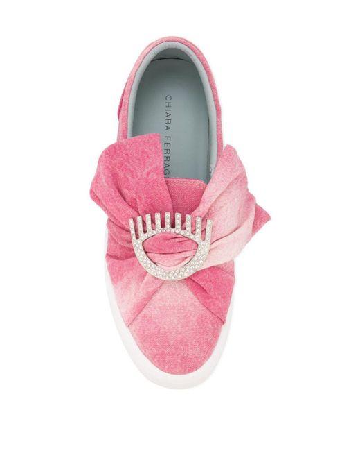 Джинсовые Слипоны С Бантом Chiara Ferragni, цвет: Pink