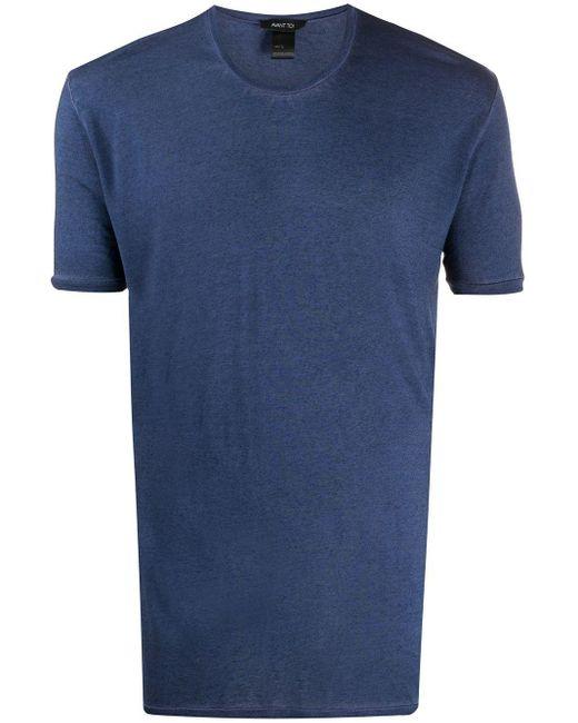 メンズ Avant Toi ラウンドネック Tシャツ Blue