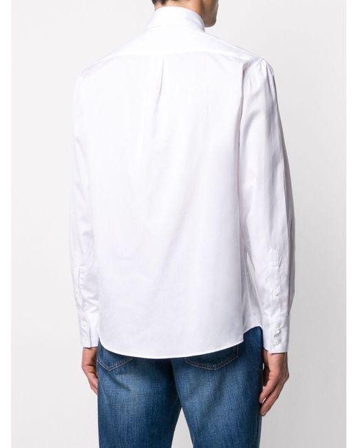 Рубашка Classica На Пуговицах Brunello Cucinelli для него, цвет: White