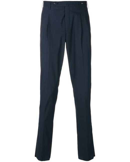 PT01 - Blue Straight Preppy Trousers for Men - Lyst