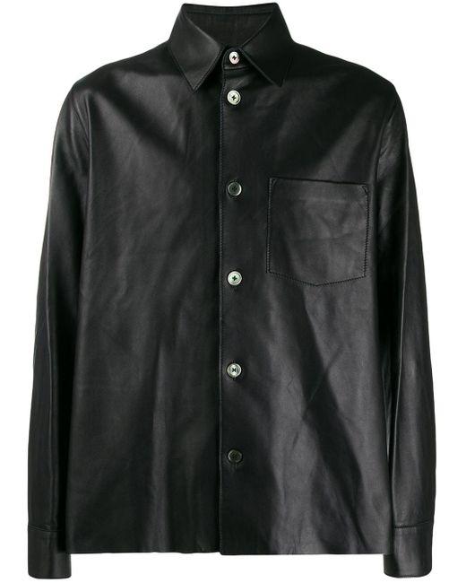 Our Legacy Black Symbol Leather Shirt for men