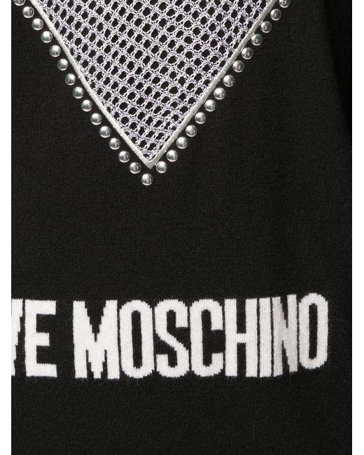 Love Moschino ハートトリム ニットドレス Black