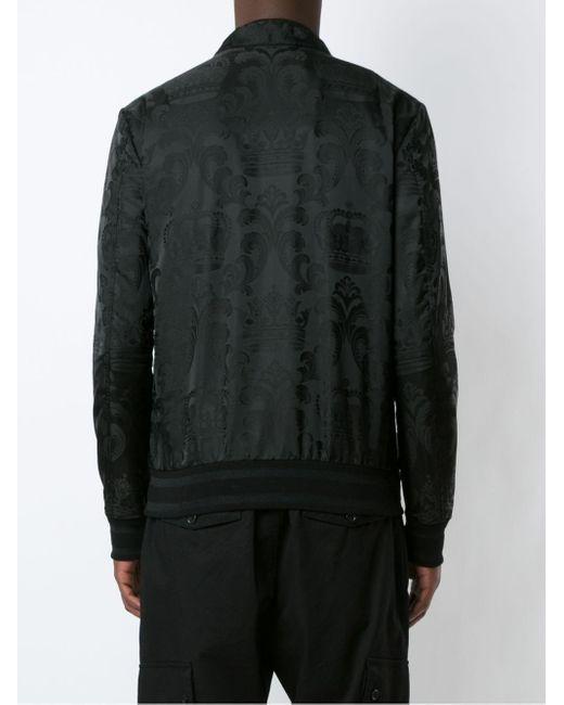 Жаккардовый Бомбер С Нашивкой-логотипом Dolce & Gabbana для него, цвет: Black
