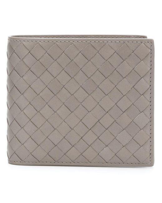 メンズ Bottega Veneta イントレチャート 二つ折り財布 Gray