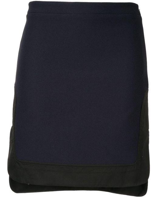 N°21 ステップヘム ミニスカート Blue