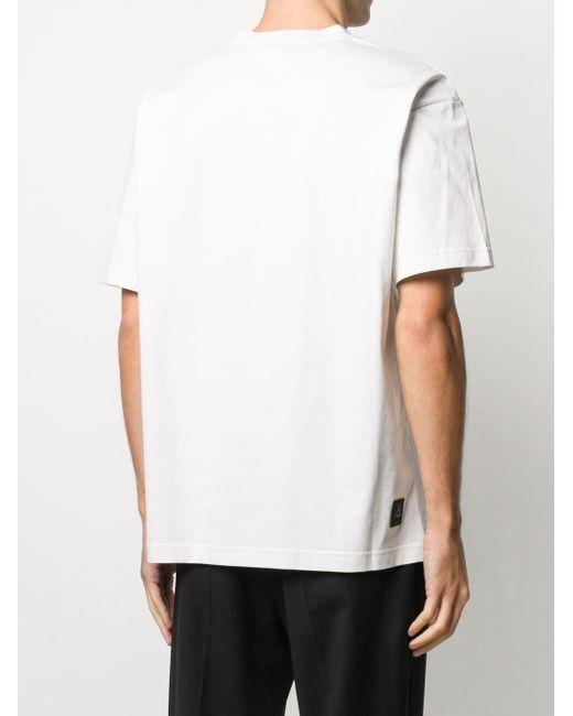 メンズ 3 MONCLER GRENOBLE ロゴ Tシャツ White