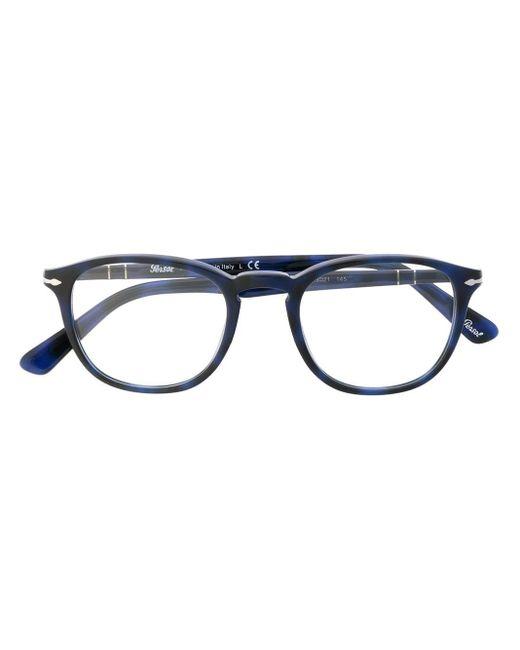 メンズ Persol ラウンド眼鏡フレーム Blue
