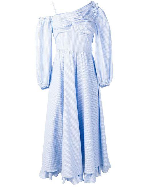 AlexaChung ワンショルダー ドレス Blue