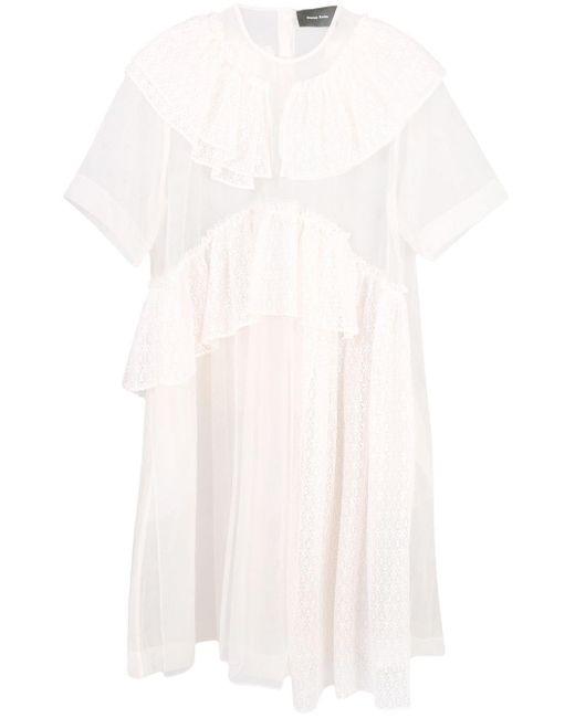 Платье Из Тюля С Оборками Simone Rocha, цвет: Multicolor