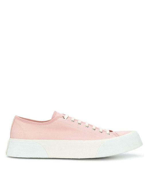 Кеды На Шнуровке AMI для него, цвет: Pink