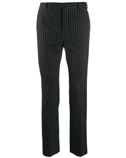 メンズ Saint Laurent メタリック ストライプパンツ Black