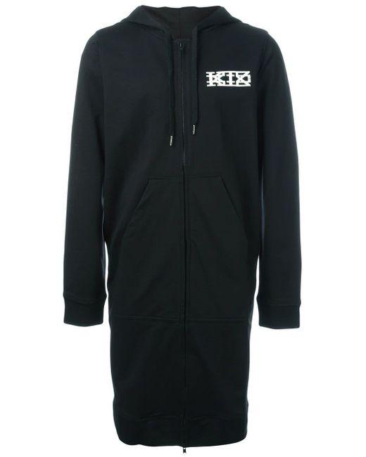 KTZ ジップ付き ロングパーカー Black