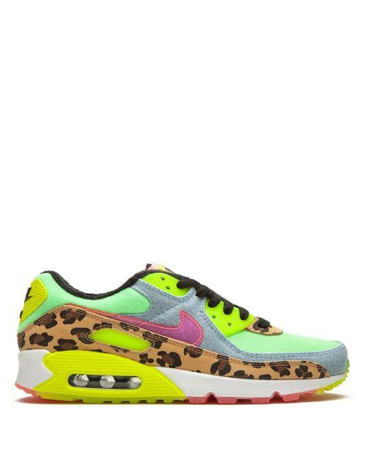 "Nike Air Max 90 Lx ""denim Leopard Print"" スニーカー Green"