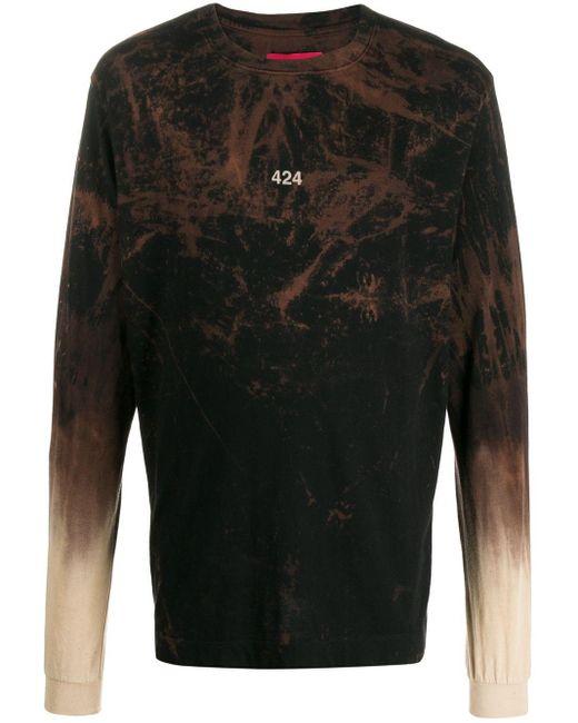 メンズ 424 ロングtシャツ Black