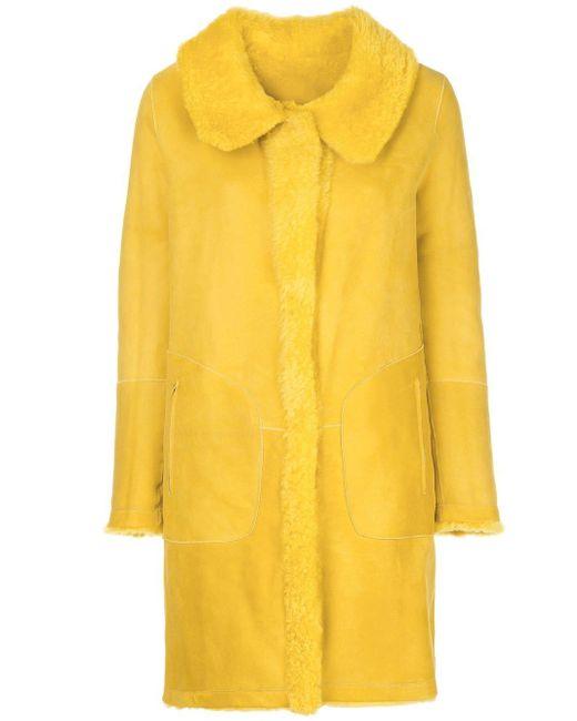 Sylvie Schimmel Yellow Mantel mit Fleece-Futter