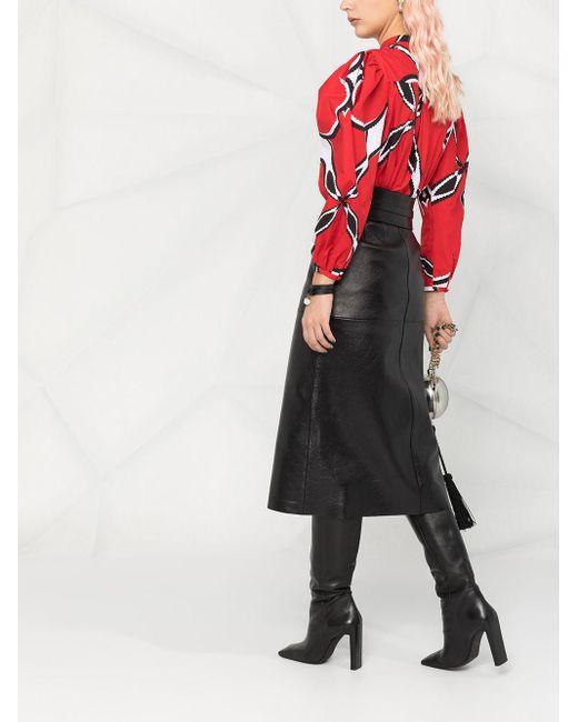 Блузка С Пышными Рукавами Alexander McQueen, цвет: Red