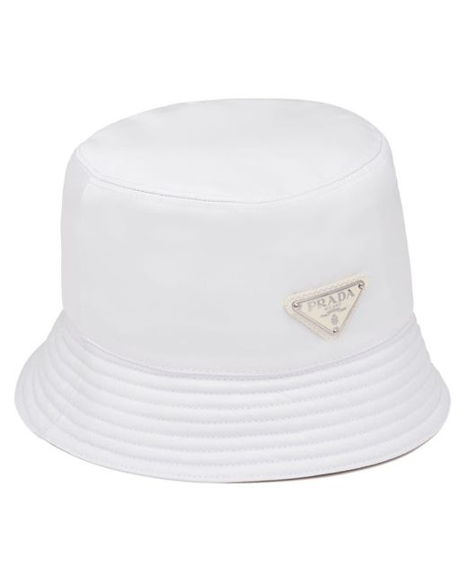 Prada ロゴ バケットハット White