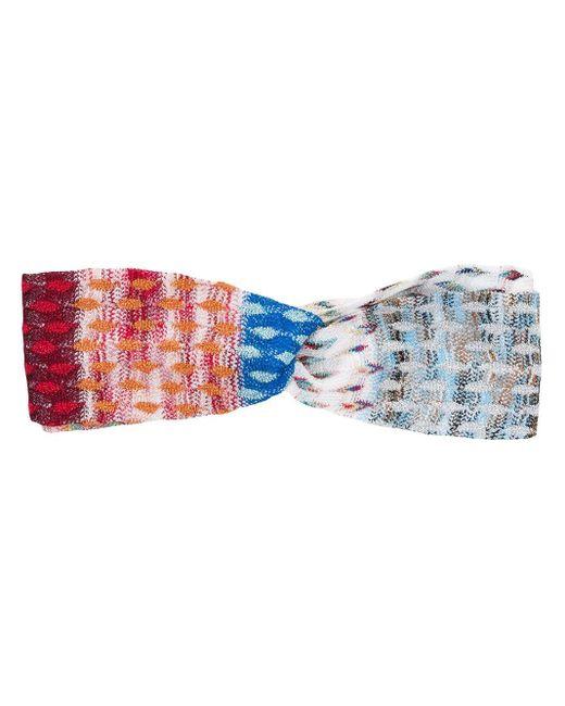 Bandeau en crochet Missoni en coloris Blue