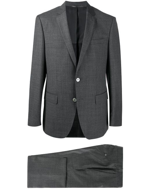 メンズ BOSS by Hugo Boss シングル テーラードスーツ Gray