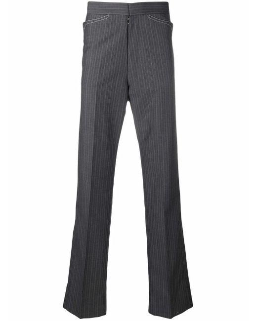 メンズ Maison Margiela ストライプ テーラードパンツ Gray