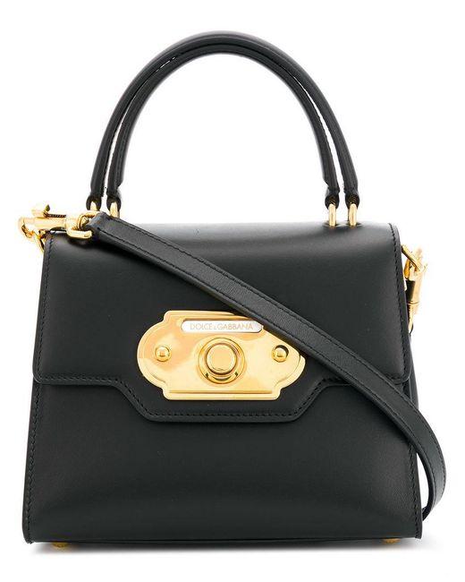 fe1a073c8335 Dolce   Gabbana - Black Welcome Bag - Lyst ...