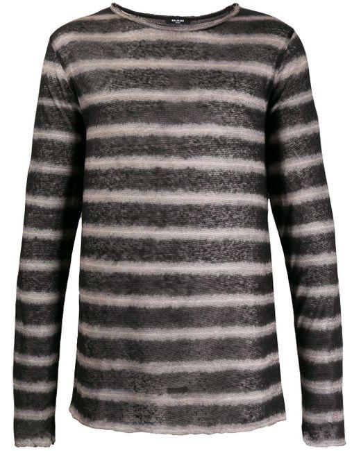メンズ Balmain ストライプ Tシャツ Multicolor