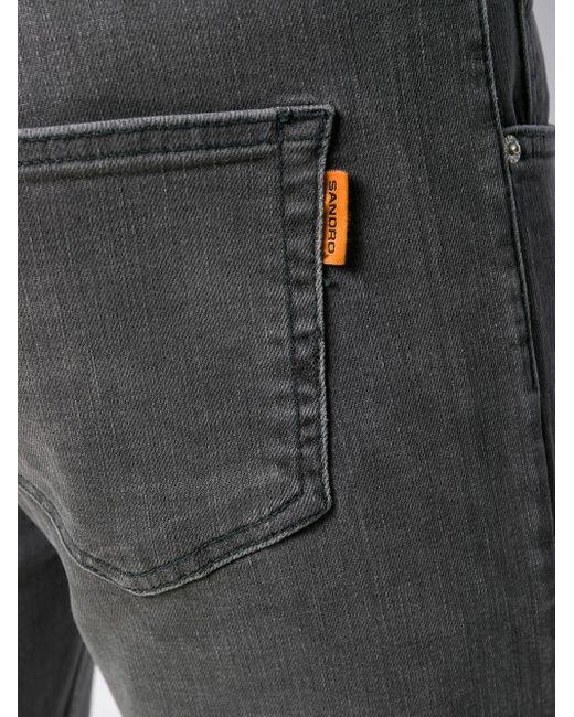 Sandro Schmale Jeans in Gray für Herren