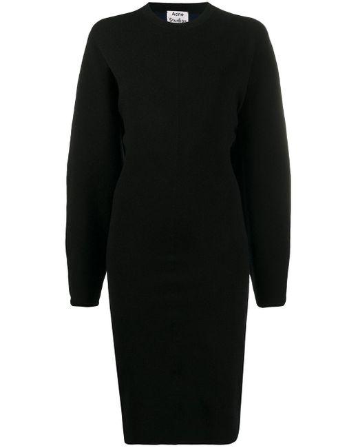 Acne パフスリーブ ドレス Black
