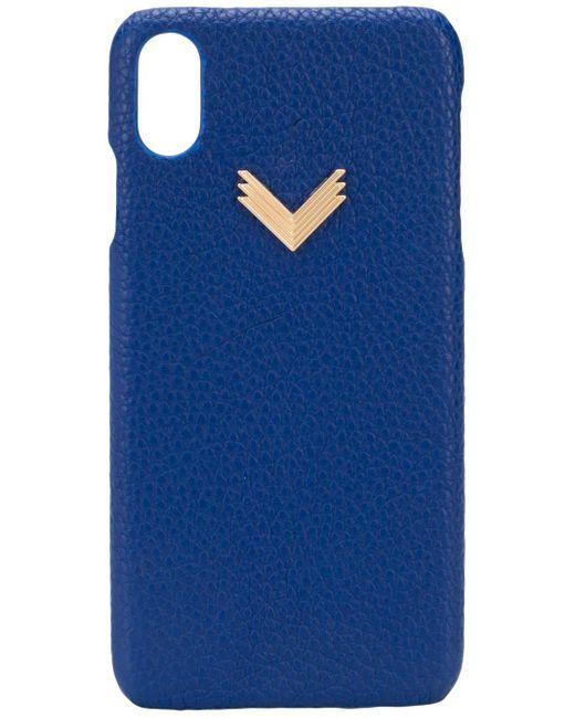 Manokhi Iphone Xs Max ケース Blue