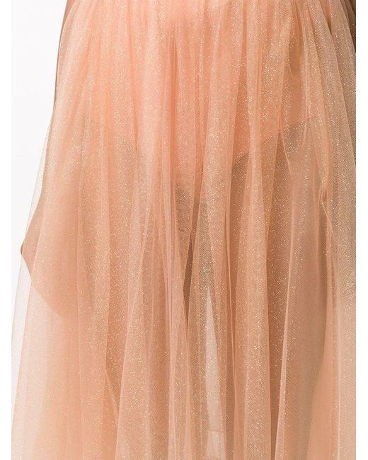 Elisabetta Franchi シアー Aラインスカート Pink