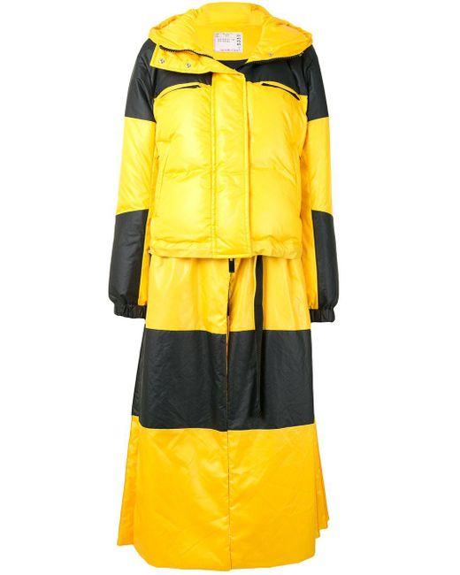 Sacai カラーブロック パデッドジャケット Yellow