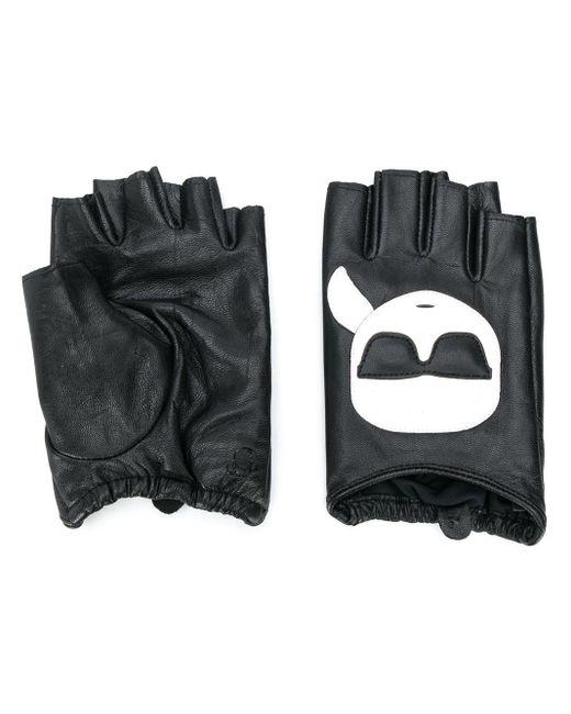 Перчатки-митенки K/ikonik Karl Lagerfeld, цвет: Black