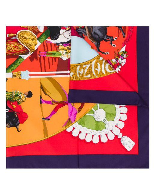 Платок Plaza De Toros 2000-х Годов Pre-owned Hermès, цвет: Red