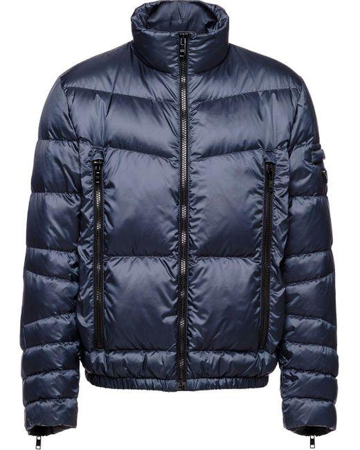 メンズ Prada テクニカル パデッドジャケット Blue