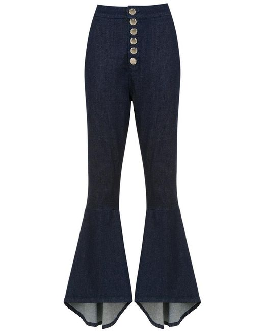 Olympiah - Blue Lima Flared Trousers - Lyst