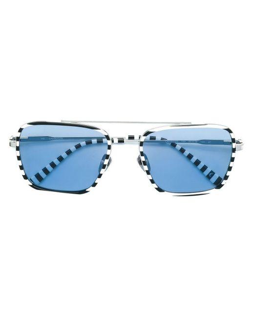 CALVIN KLEIN 205W39NYC ボーダー サングラス Blue